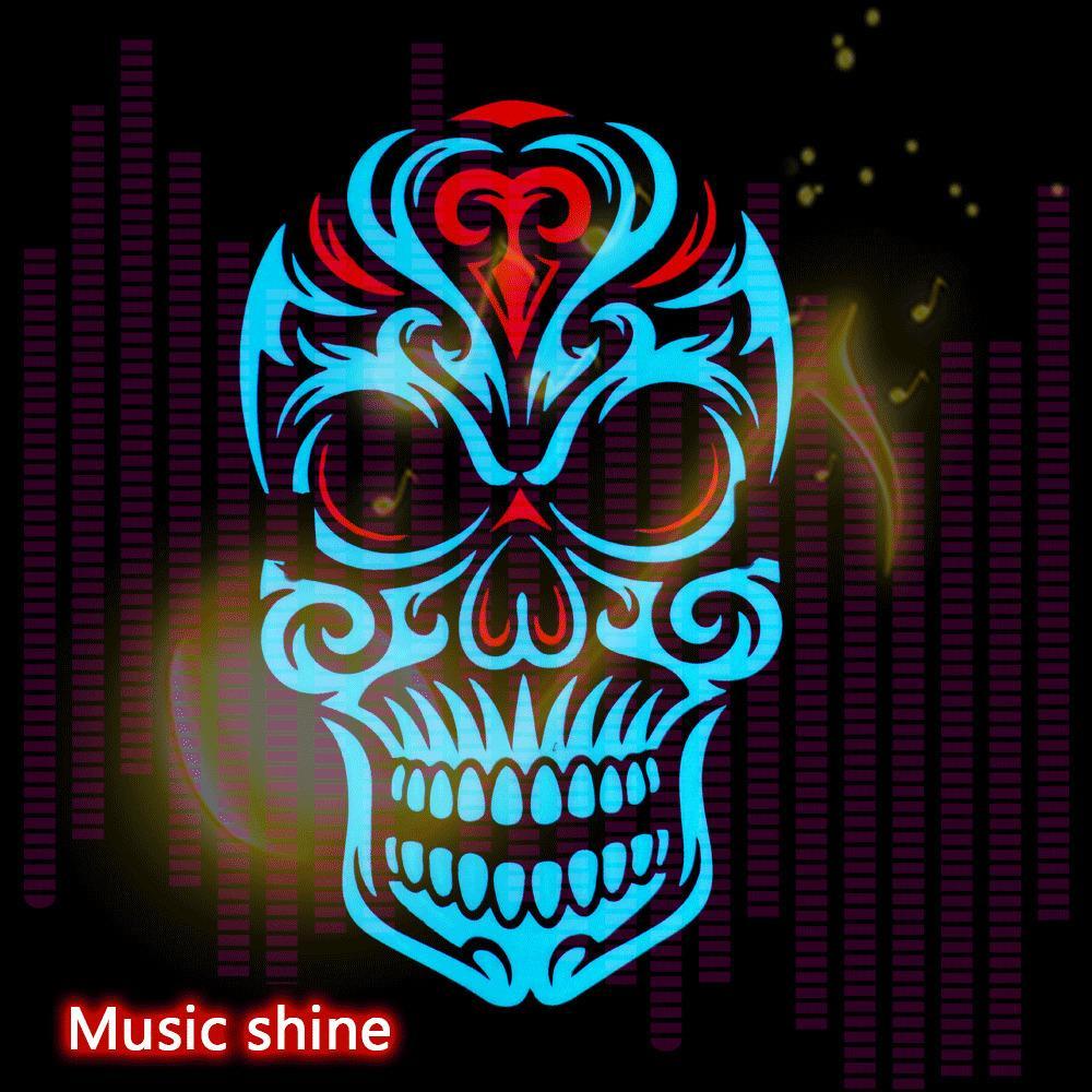 LED Maske Temizle Ses Maskeler Seçim Maskara Kostüm DJ Parti Işık Yukarı Cosplay EL Maskeler Glow In The Dark Parti Dekorasyon Y200103