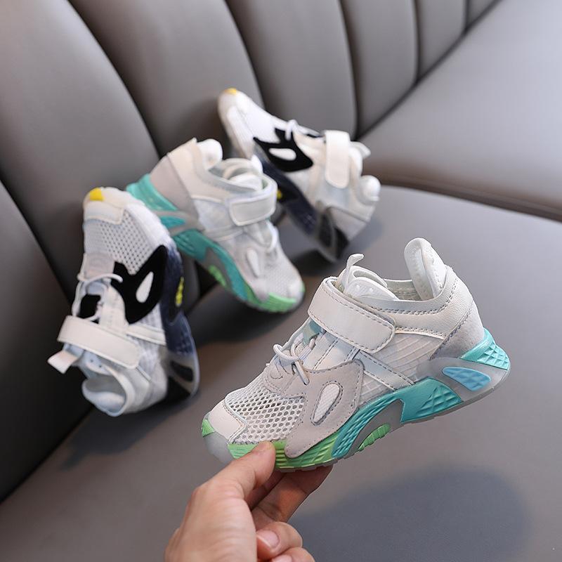 Детская обувь мальчиков девочек причинно-следственные кроссовки детей дышащие кроссовки малыша спортивная обувь M200607