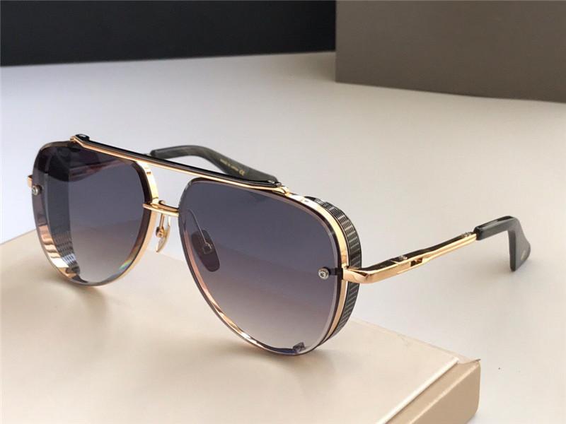 Nouveau Crystal People Populaire Retro Top Huit Hommes Design Top Gold Quality Pilots Sunglasses Limited Lens K édition CXIKP