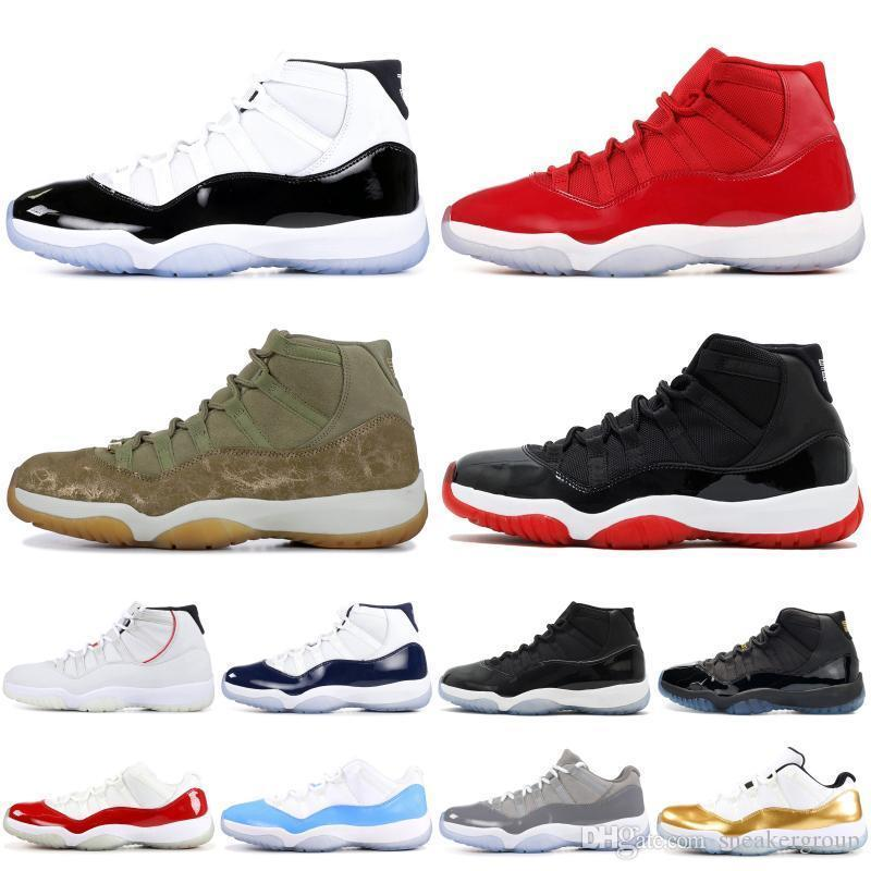Jam 11 Space 11s Mens Basketball Shoes Concord Gamma Blue Legend Blue High Heiress Xi Designer Shoes Sport Sneakers Us 5.5-13