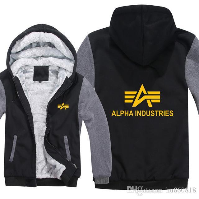 Alpha Industries Hommes Veste D/'Hiver Polaire Noir