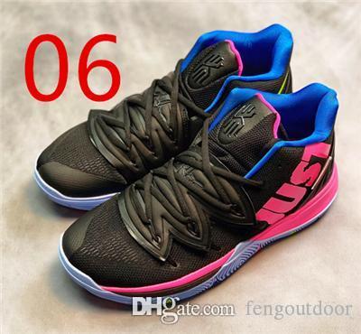 2019 yeni satış Ücretsiz kargo Satılık Kyrie 5 Siyah Sihirli Basketbol Ayakkabı En Kaliteli Kyrie Irving Erkek Spor Sneakers Boyut 7-12