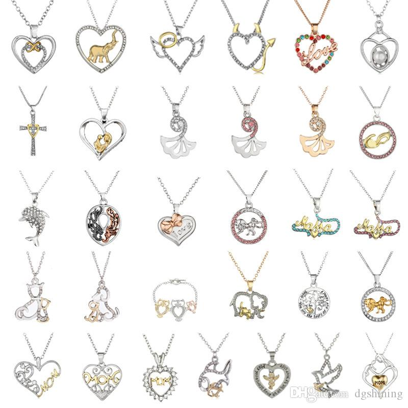 Алмазное Сердце ожерелье Мода Горячие дамы сердца Ссылка цепи смазливая сплава цинка Женщины подарков Choker Collares
