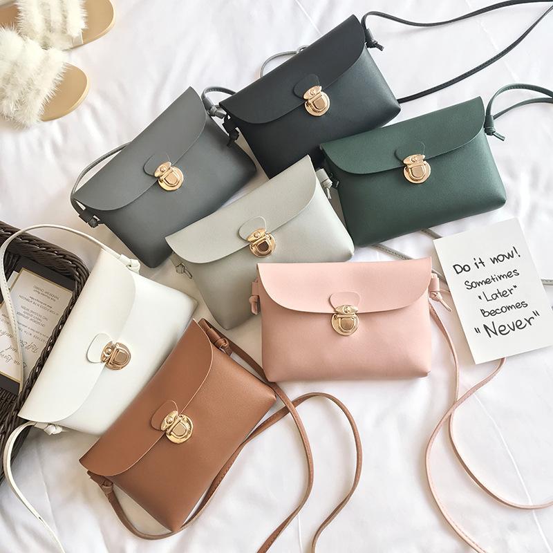 2020 yeni bayan çantası Kore Mini gömme kilit küçük kare çanta bayanlar tek omuz köşegen