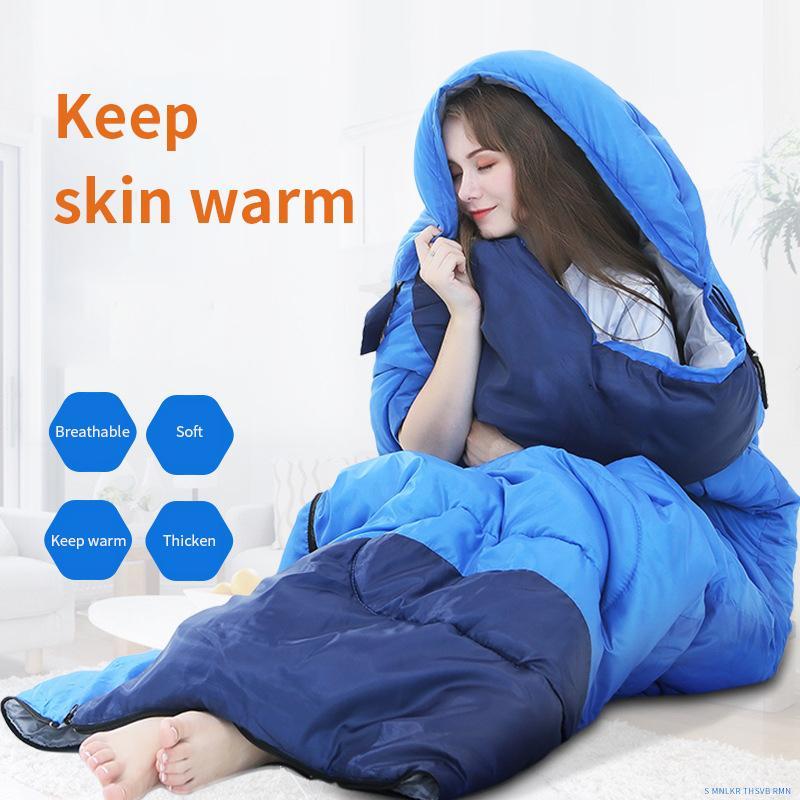 Adulto saco de dormir anti-golpe de invierno resorte del algodón colcha otoño otoño al aire libre de interior gruesa del almuerzo bolsa de descanso para dormir