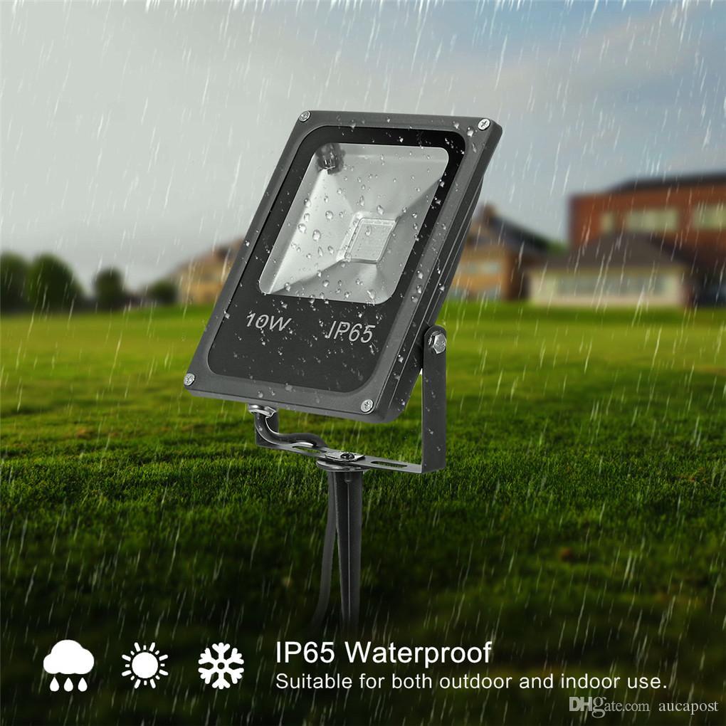 10W RGB LED Flood Light Spotlight Waterproof Outdoor Garden Landscape Lamp