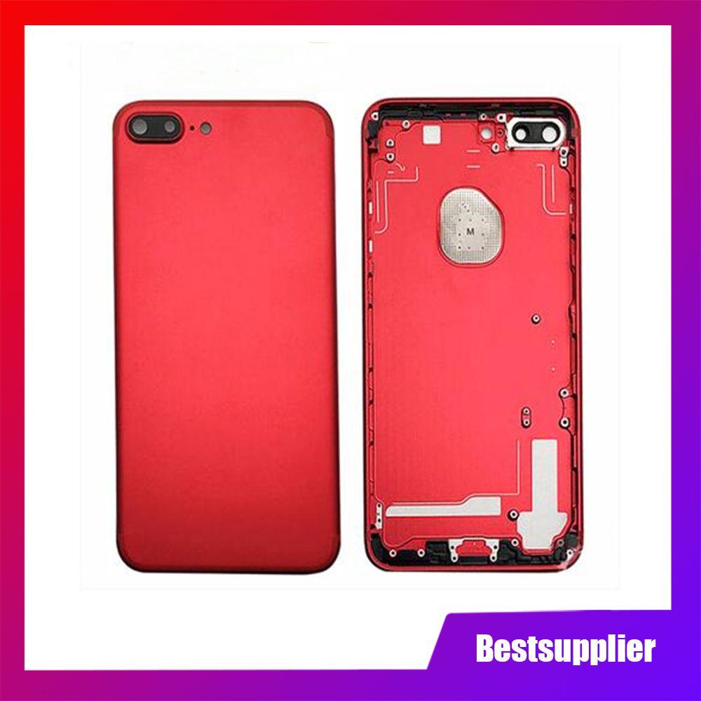 Pour iphone 7 7 Plus 8 8 Plus 8P ix X Couverture arrière + Cadre de châssis moyen + Plateau SIM Assemblage de boîtier complet
