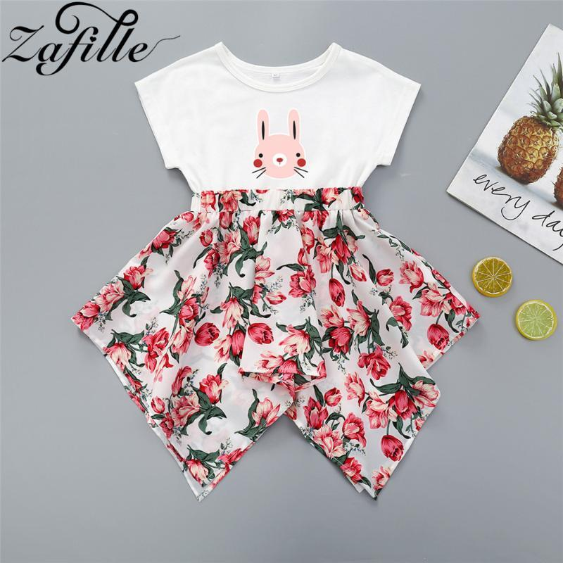 ZAFILLE 2020 Robes tout-petits Patchwork Vêtements de bébé fille Robe imprimée fille florale Vêtements de bébé robe à manches courtes d'été
