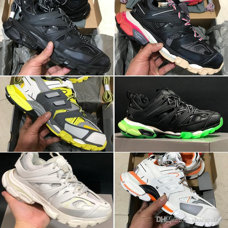2020 3M Triple S trilha 3,0 Running Shoes Release 3 Tess Gomma Maille Fashion Women Shoes Esporte sapatilha 36-45 Com Box