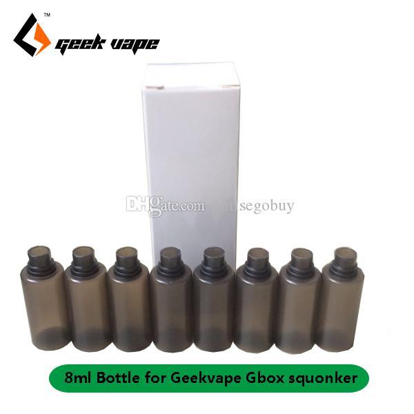Оригинальный 8шт / серия Geekvape Gbox 8ml е-жидкость Запасных бутылки для Gbox 200W мод Радара RDA Комплект сквонка класса замена пищевого ПЭТ бутылка мягкой