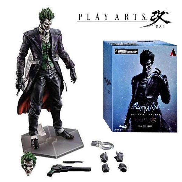 Play Arts Kai The Joker Batman Arkham Action Figure Toy Doll Model Collection New box