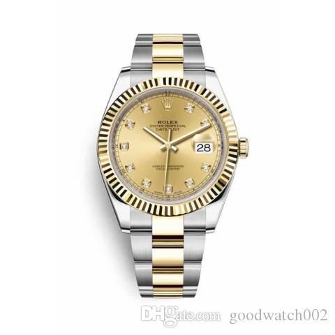 2020 lusso 18ct gold DayDate 36mm uomini orologi automatici quadrante movimento argento lunetta 2813 fibbia originale Mens Datejust orologi da polso # 6688
