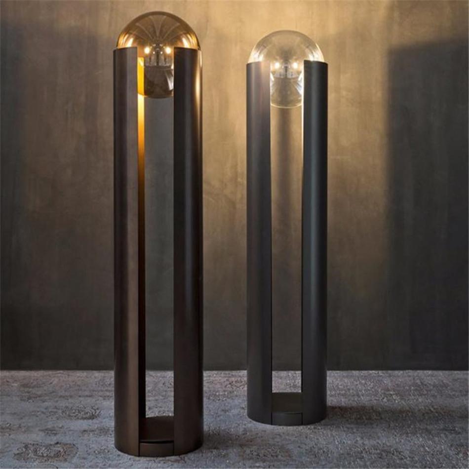 Современные постоянные лампы для гостиной постоянной лампы ретро напольная лампа Японский стиль стоящий кристалл деко салон промышленного бара