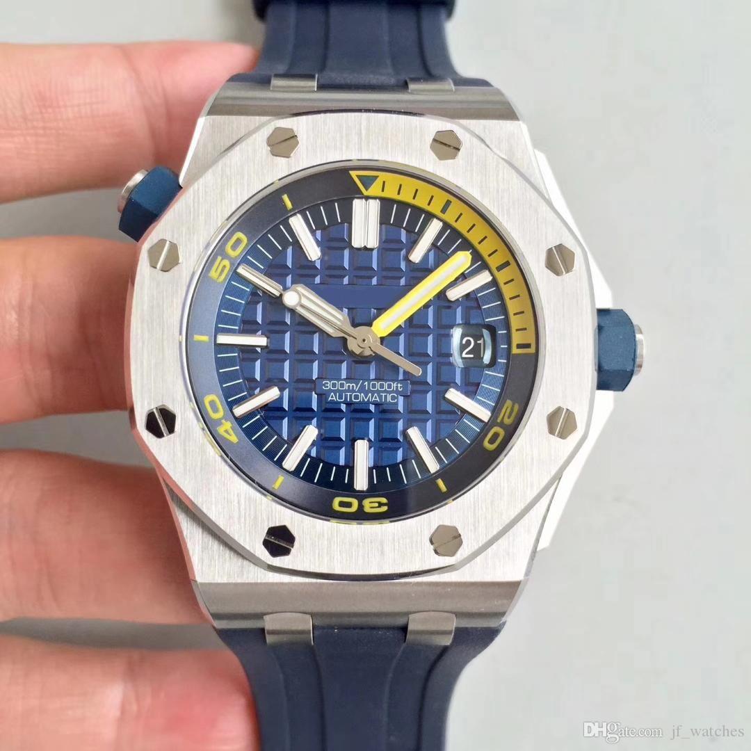 Hot venda mens 42mm moda 26703 relógio multi-esportes estilo mecânicos automáticos assistir esportes pulseira de borracha relógio de mergulho à prova d'água