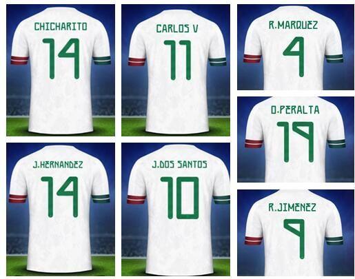 Mexico personalized Custom 19-20 mens Soccer Jerseys,Customized Thai Quality 14 J.Hernandez 10 G.DOS SANTOS 11 CARLOS V 16 H.HERRERA wear
