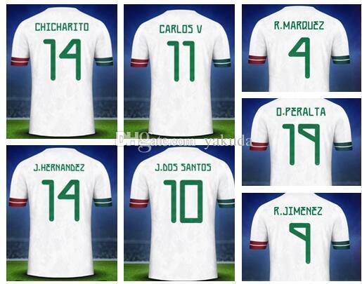 Mexiko personalisierte Gewohnheit 19-20 Mensfußballjerseys, Customized Thai Qualität 14 J.Hernandez 10 G.DOS SANTOS 11 CARLOS V 16 H.HERRERA Verschleiß