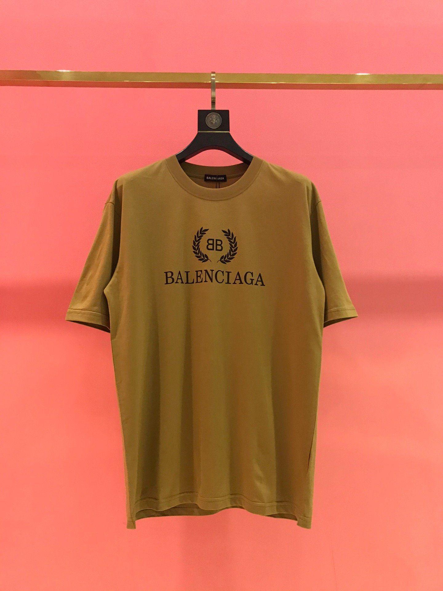 Tişört moda kadın ve erkek üst pamuk spor ince kahverengi tişört baskı 2020 Fransız bahar ve yaz yüksek kaliteli buğday kulak mektup