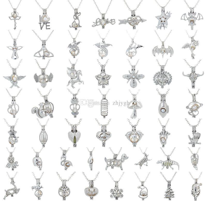 Großhandel Europa und die Vereinigten Staaten neue natürliche Süßwasser Austernperlen Käfig Halskette, Damen kurze Schlüsselbein Kette Zubehör