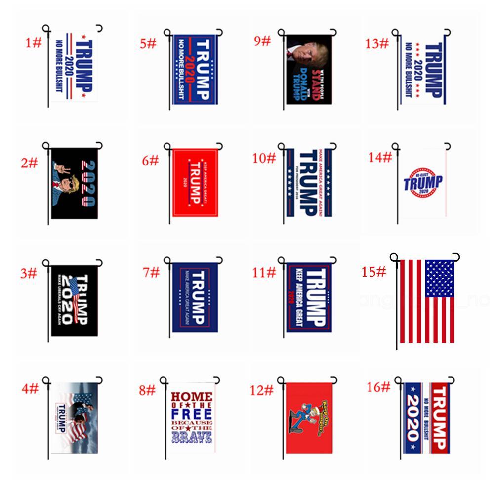 2020 tutmak Amerika büyük tekrar seçim afiş bayrakları FFA4015 için festivali ABD'de açık 30 * 45cm Trump bahçe bayrak