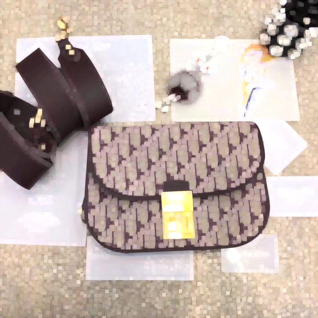 Classi Vintage косой жаккардовый холст плечо лоскут обложка сумка небольшой роскошный крест тела сумки Сумки известный дизайнер кошелек 25 см di0radict