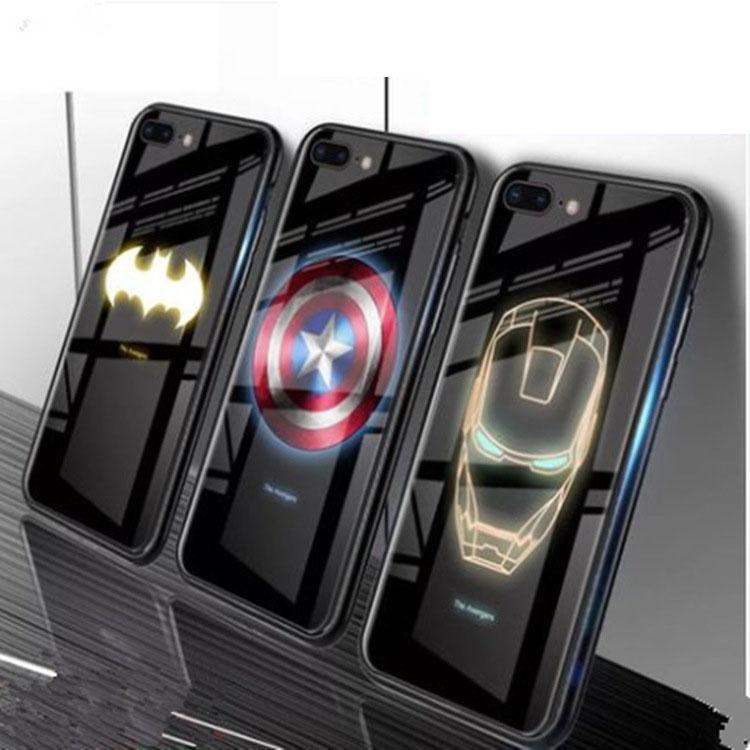 Iphone11 빛 휴대 전화 쉘 애플 XR / xsmax 발광 강화 유리 커버 쉘 전화 케이스 보호 커버