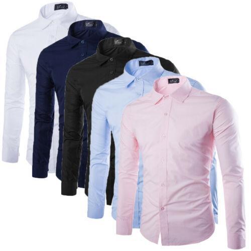 2020 новые мужские повседневные формальные рубашки Slim Fit рубашка топ с длинным рукавом бизнес работа роскошные формальные рубашки размер M L XL XXL XXXL