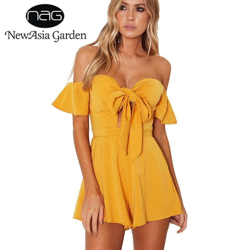 Newasia Garden Sexy Jumpsuit Mamelucos Womens Jumpsuit Bustier Padded Playsuit Jumpsuits Para Mujeres 2018 Body Feminino Overoles Nuevo Y19051601