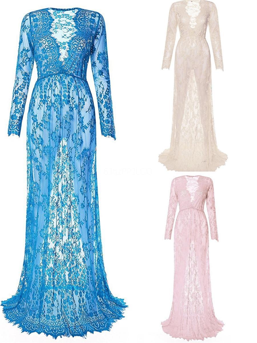 2020 mais novo V-Neck longos vestidos de casamento da luva Button Up Voltar Capela Train Lace nupcial do casamento Vestidos de noiva Vestidos Vestido de novia 2020 # 685
