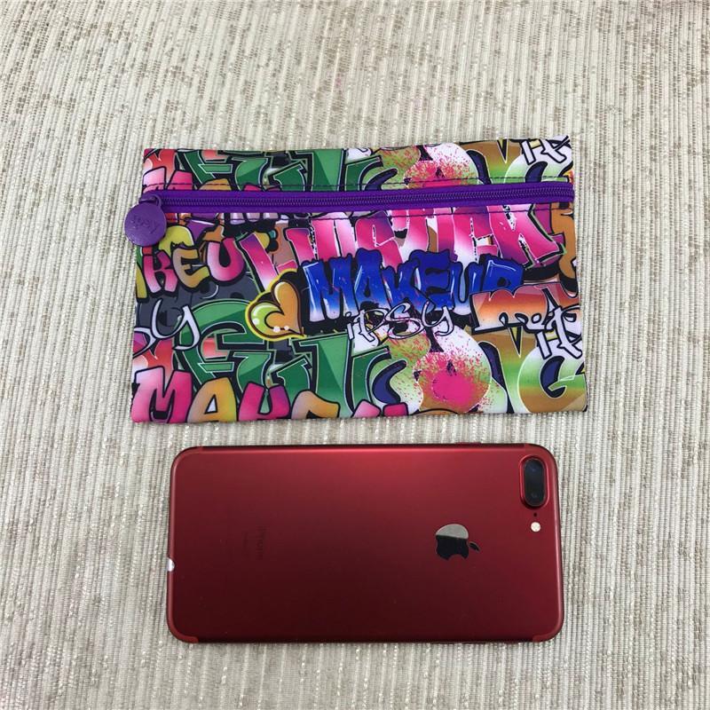 Личность граффити Косметика Сумки Косметические молнии сумки Мода Путешествия Poratble телефон сумка Multi-Function хранения сумки Подарки 2020
