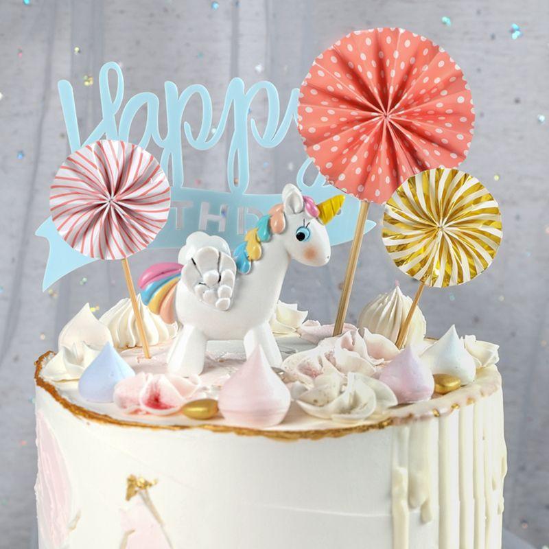 Super 2020 Mini Paper Fan Cake Topper Cupcake Toppers Kids Birthday Birthday Cards Printable Giouspongecafe Filternl