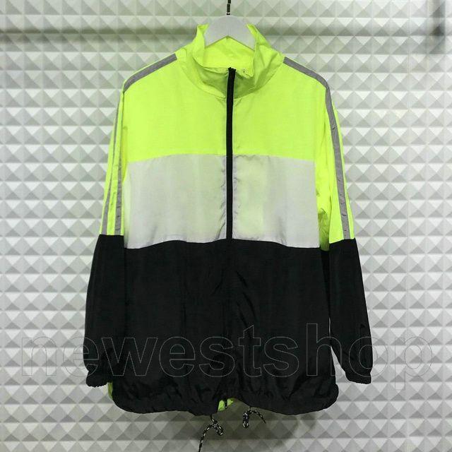 2020 estate stilista per mens vestiti leggeri lettera giacca a vento di colore della stampa patchwork maglia interna con cerniera outwear streetwear
