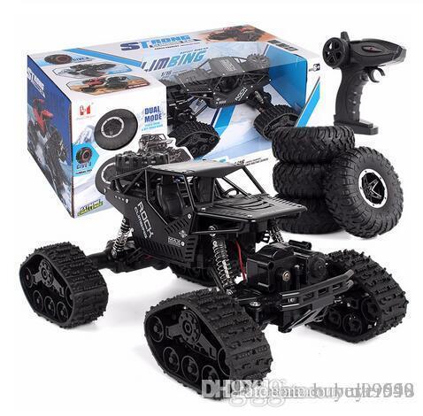 Rc Car 01:12 escalada Off-road Remote Control Radio 4WD 2,4 Hz Controlado lagartas Rc Car Toy Criança