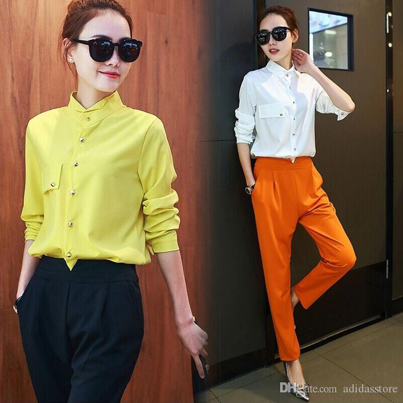 2021 Designer Pant Suits For Women Ladies New Fashion Summer Single Breasted Office Uniform Designs Womens Blouse And Pants Suit From Adidasstore 32 38 Dhgate Com