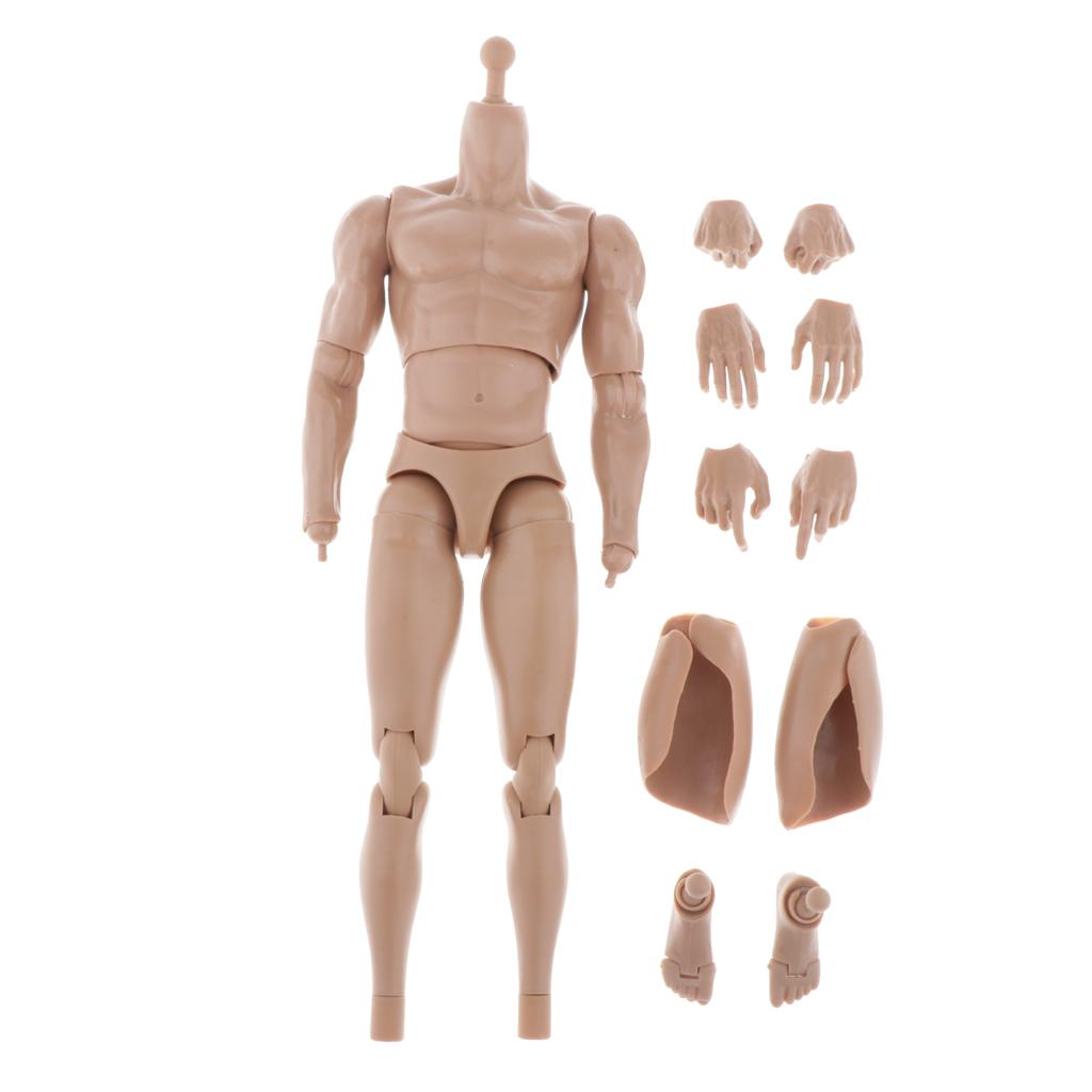 1//6 Scale Action Figure Male Muscle Body for Anime Fabric Costume
