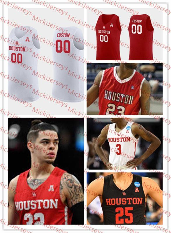 2021 Custom Houston Cougars Basketball Jersey Chris Harris Jr ...