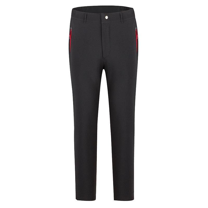 Pantalones de invierno al aire libre gruesa lana hogares cálidos impermeable de corte recto simples Wear Pantalones para hombres