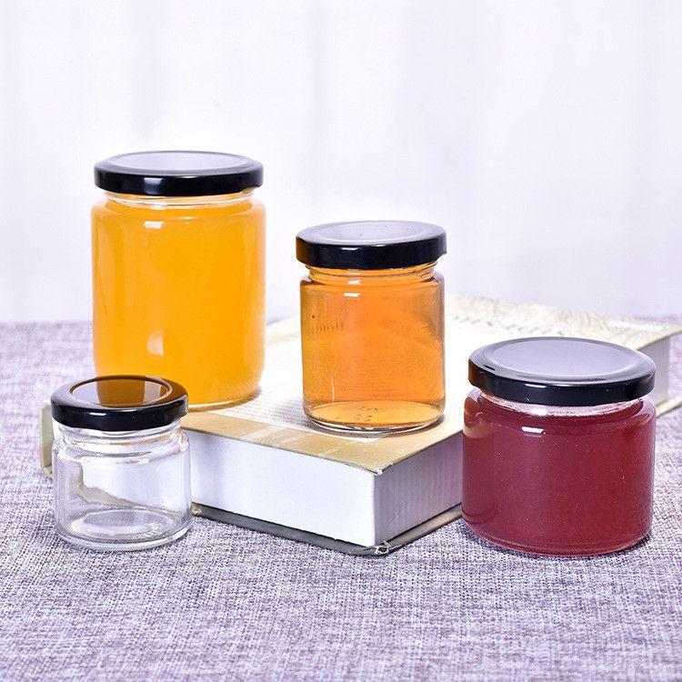 Großhandel Rund Lagerung Lebensmittelglasbehälter mit Metalldeckel