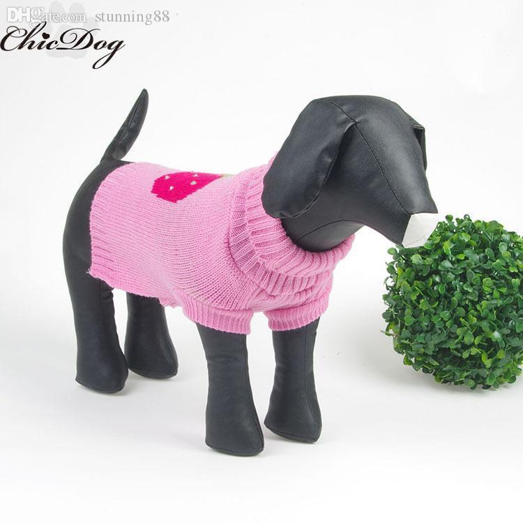 Wholesale-Free shipping dog sweater knitting pattern free wholesale knitted dog sweaters winter pet clothes autumn chihuahua poodle yorkie