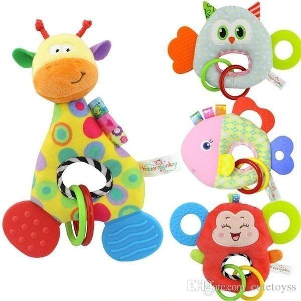 الزرافة القرد حيوان محشوة دمية لينة أفخم لعبة الوليد الطفل أطفال الرضع لعبة T565 Soothers Teethers