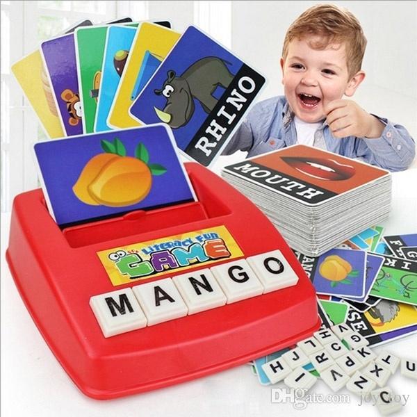 تعليم اللغة الإنكليزية مطابقة رسالة إملائي لعبة ما قبل المدرسة تعلم ألعاب للأطفال طفل عمر 4 3 5 وحتى