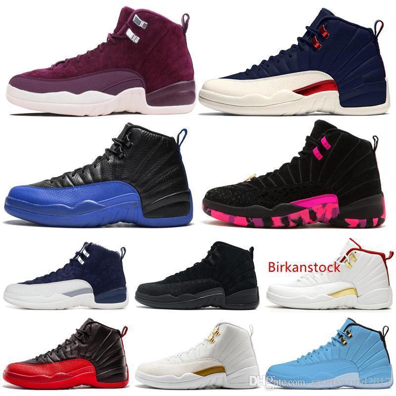 Zapatos de baloncesto a 12 12s hombres del zapato Doernbecher Fiba inversa Taxi juego real francesa azul Unc para hombre de las zapatillas de deporte Entrenadores deportes al aire libre 7-13