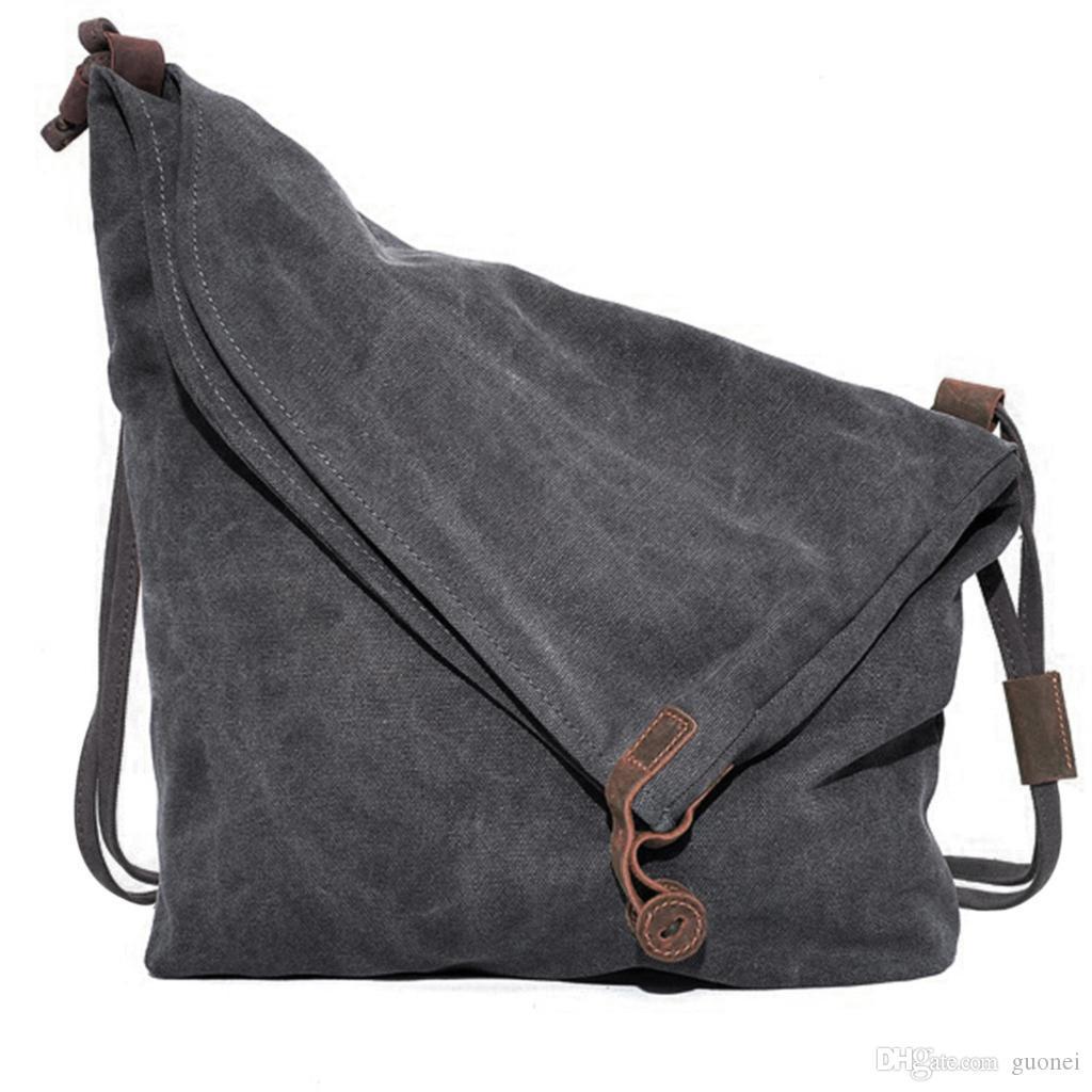 Ombro Designer-Canvas Mulheres Messenger Bag Casual Men Bolsa Crazy Horse Couro Mulheres do vintage malas de viagem Sac A Femme Principal