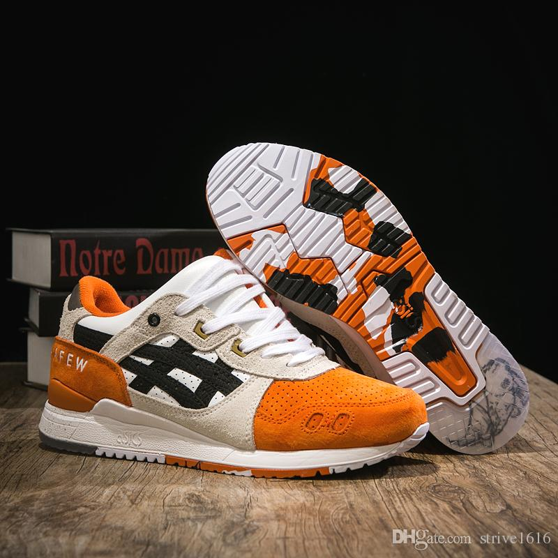 latest newest official 2019 New Asics X Afew X Beams Gel Lyte III Jogging Sneakers Men Women  Running Shoes Top Quality Designer Sport Shoes Trainers US 4 10 From  Strive1616, ...