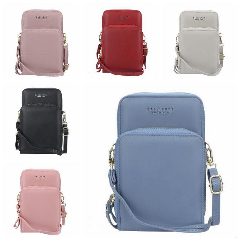 휴대폰 가방 긴 지퍼 지갑 지갑 카드 홀더 포켓 미니 어깨 가방 크로스 바디 백 핸드백 클러치 토트 메신저 가방 C7292