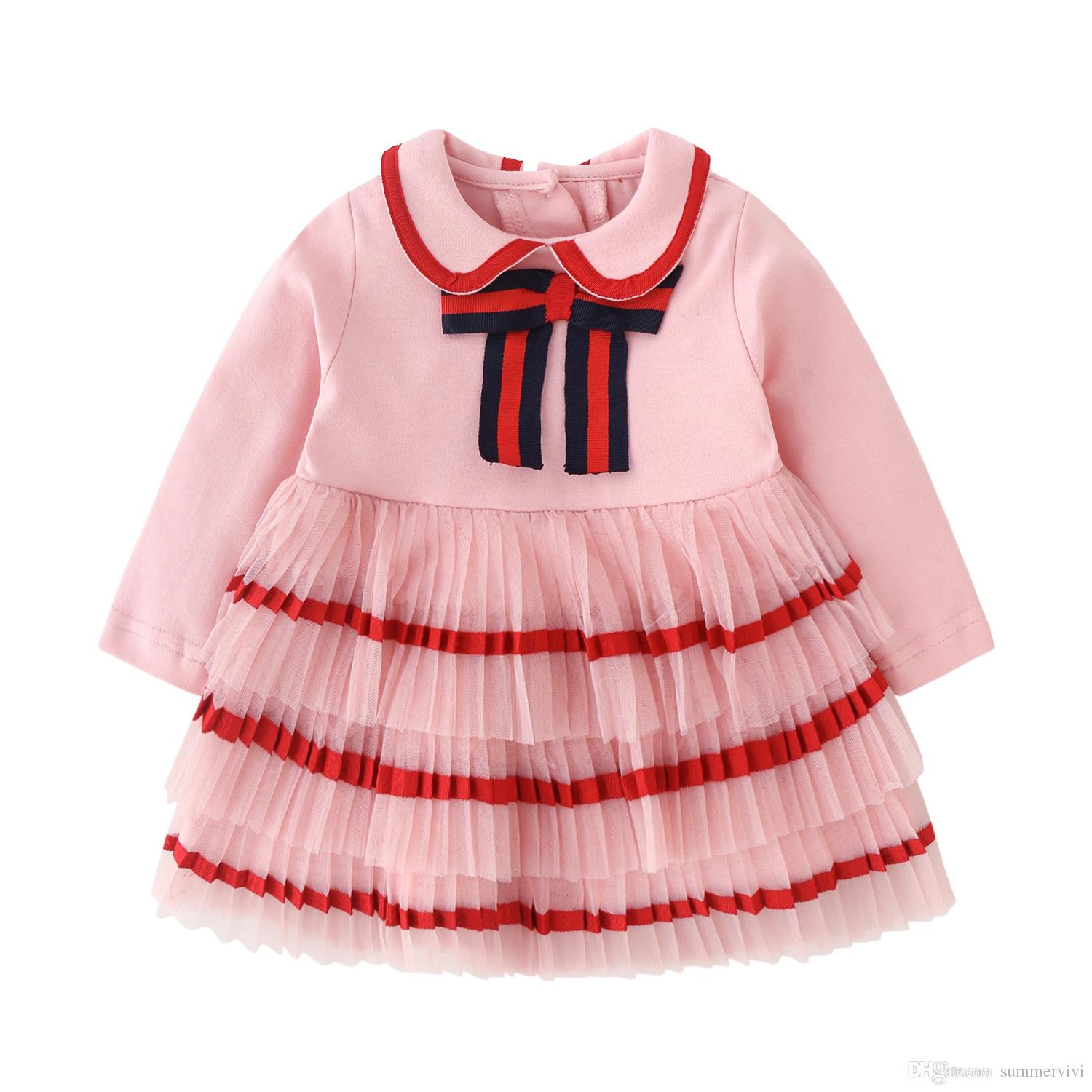 UK Toddler Kids Baby Girl Princess Checked Lace Plaid Party Dress Clothes Outfit