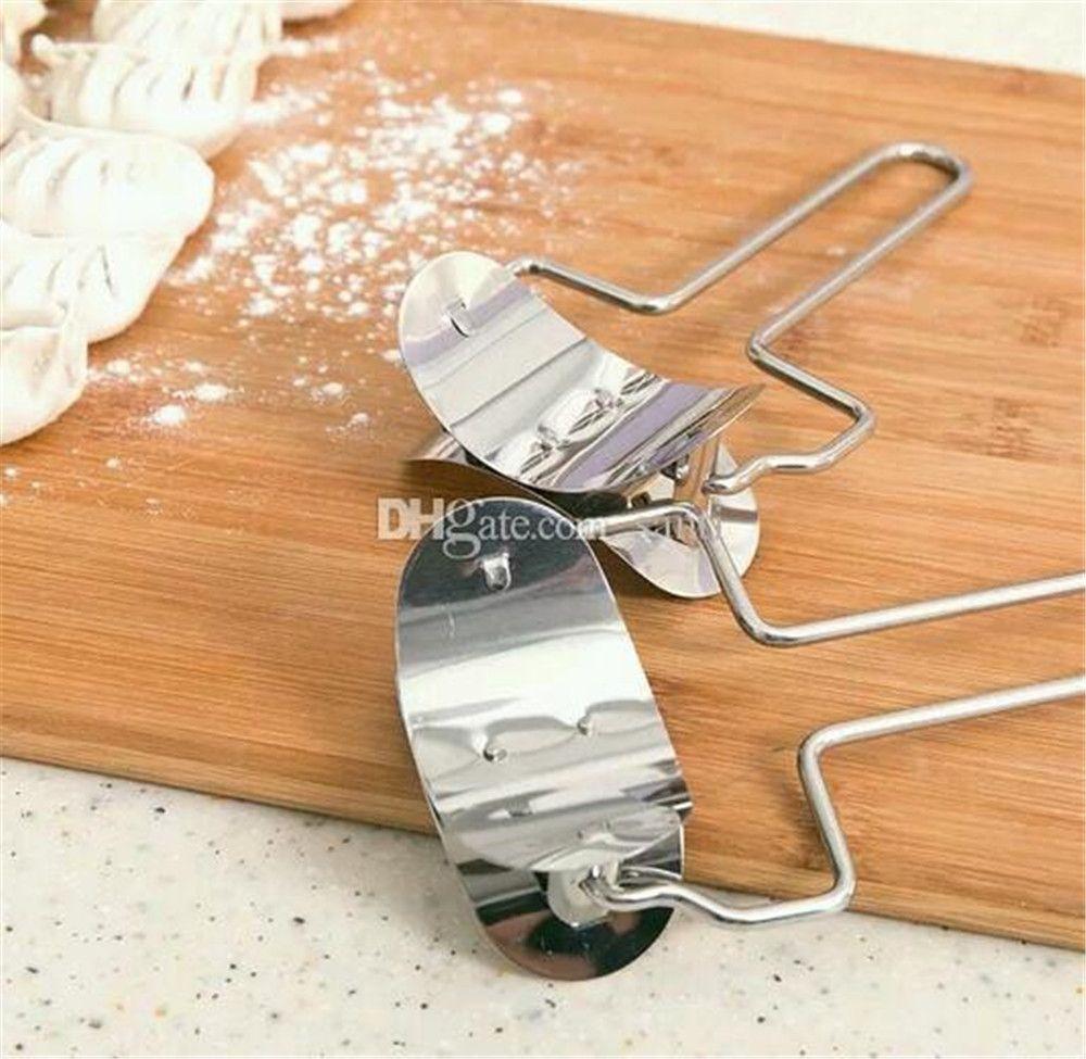 Питание Кондитерские изделия из нержавеющей стали Тесто Пресс Клецки Pie Ravioli Mold Maker Кулинария Кондитерские инструменты Круг Клецки делая машину