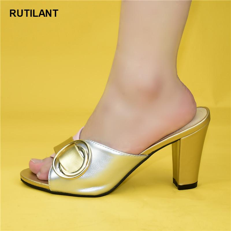 Últimas Shoes africanos Decorado com strass Doce Estilo para o partido casamento real Slingbacks Sandals Senhoras sapatos Salto Alto