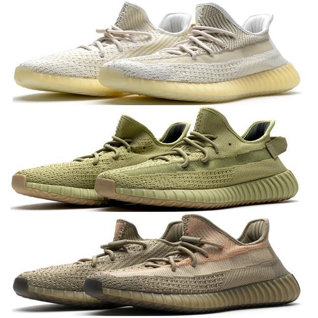 Flash ofertas Reflective V2 Shoes Coleção Nuvem Branca Citrin Kanye West Sapatilhas Lundmark Terra Synth estática Preto argila Desert Sábio Beluga