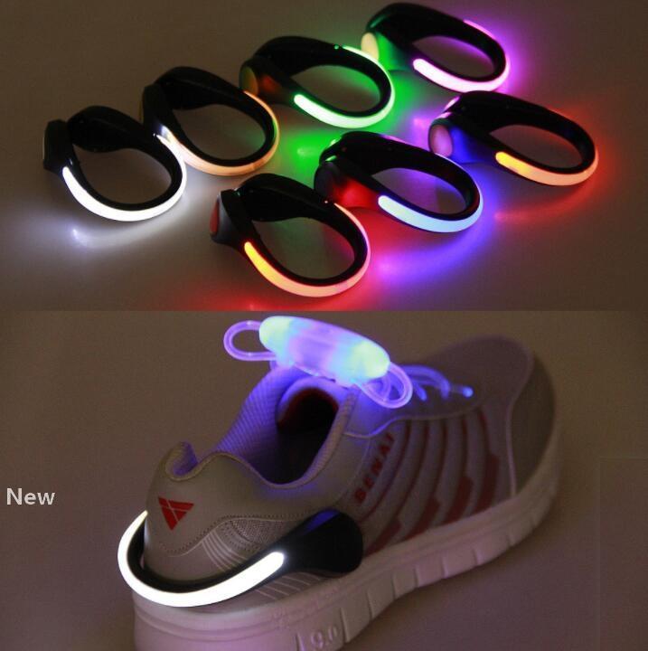 LED 발광 신발은 가벼운 파티 호의 GGA3124 경고 신발 안전 클립 사이클링 스포츠 실행 빛 밤 안전 경고 밤 클립