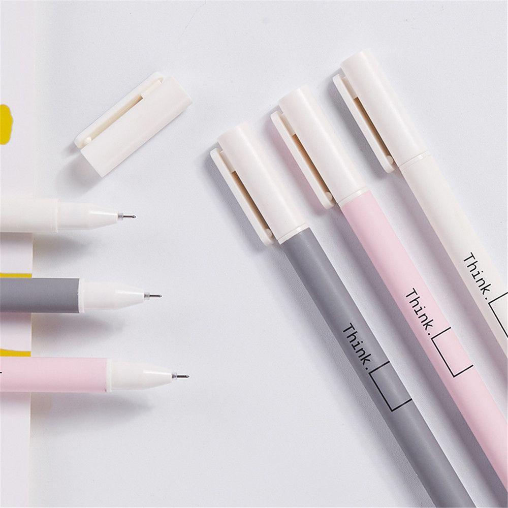 3pcs Kawaii Fresh Style Gel Pens 0.5mm Black Ink Signature Pens Stationery Kids Gifts School Office Supplies